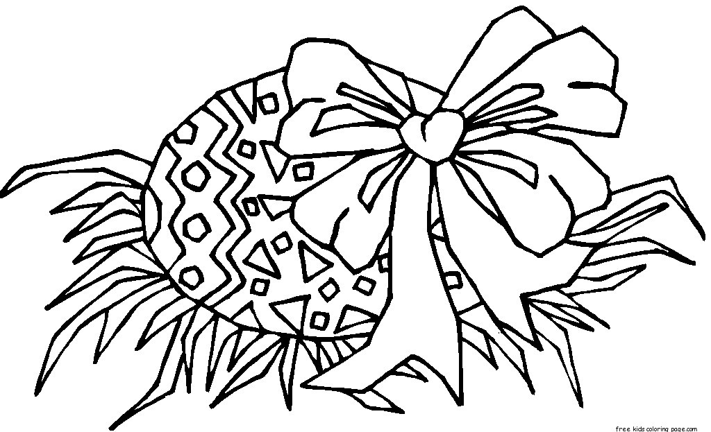 Easter Egg Colouring Pictures To Print