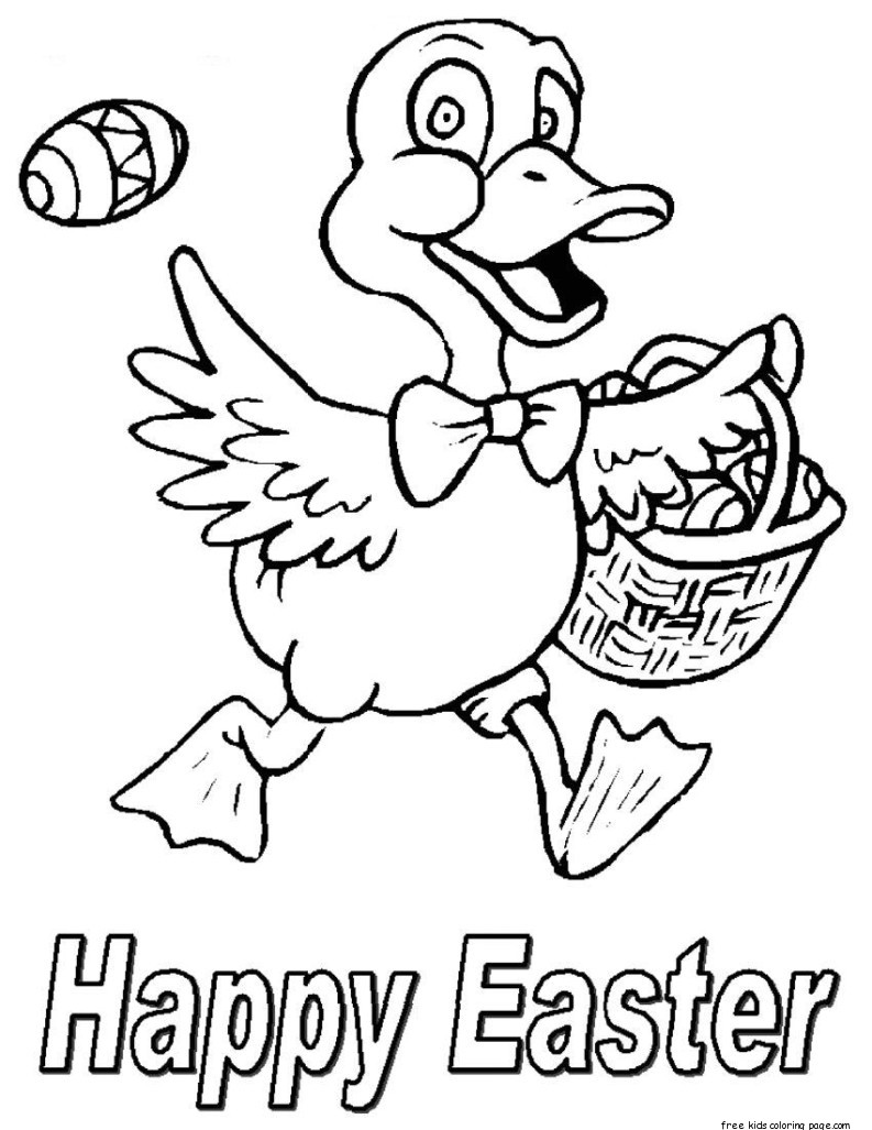 happy easter chicken easter eggs coloring pages for kidsfree