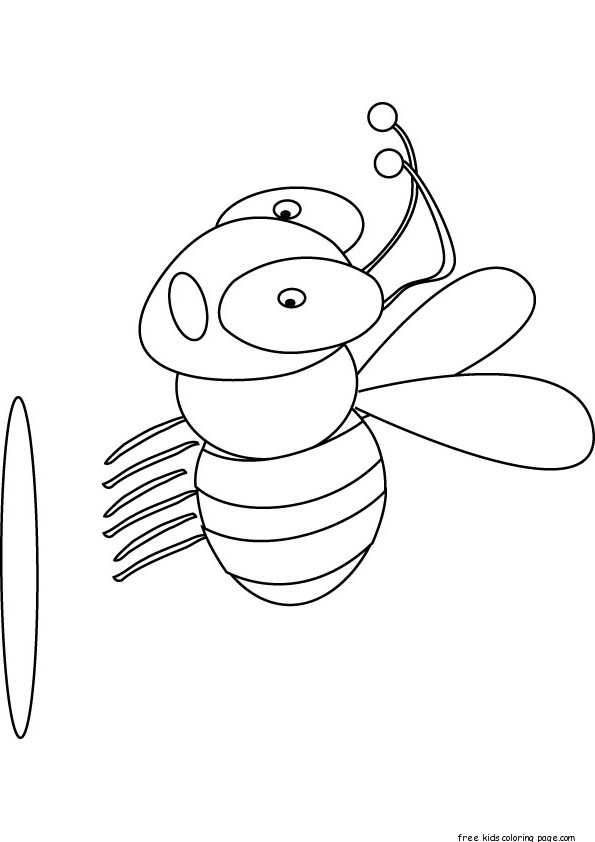 Print out busy bee preschool coloring pagesFree Printable