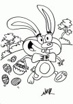 Printable The easter bunny coloring page