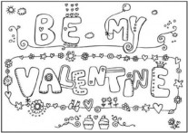 be my valentine cards printable coloring pages