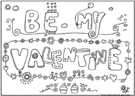 valentine sports coloring pages | Be my valentine cards printable coloring pages for ...