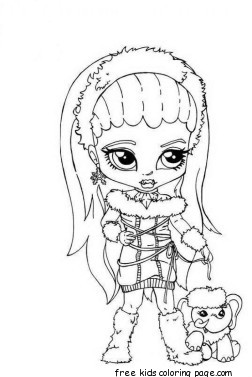 Abbey Bominable Little Girl Monster High Coloring Pagefree
