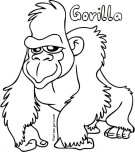 Gorilla Coloring Pages Printable