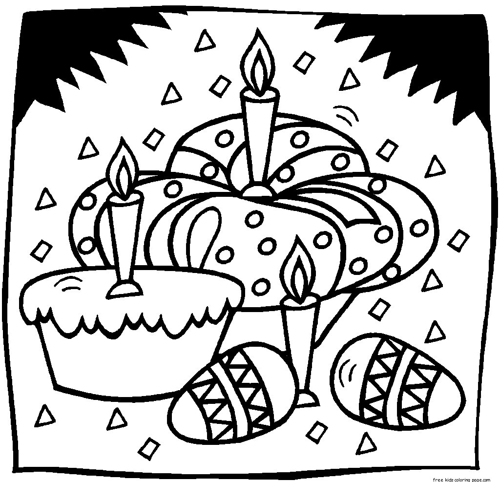 Print out easter egg coloring pages