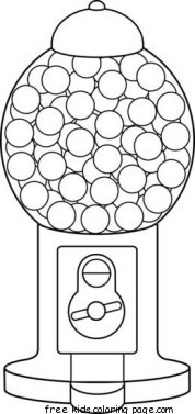 Print out gumball machine coloring