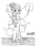 Print out Water Fairy coloring pages