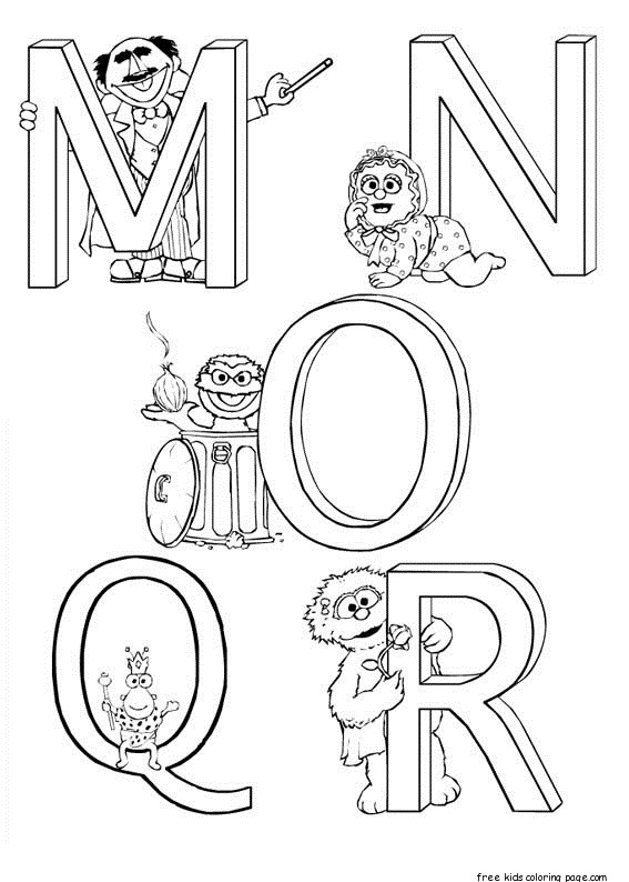 Printabel Sesame Street Coloring In Sheets on handwriting sheets for kindergarten