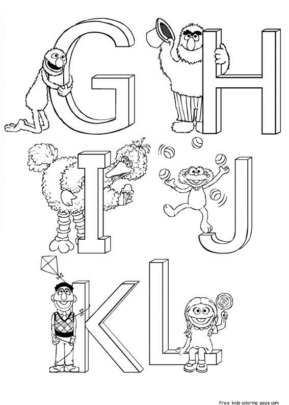 Print out sesame street alphabet