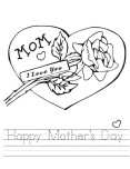 Printable Happy Mothers Day Coloring page