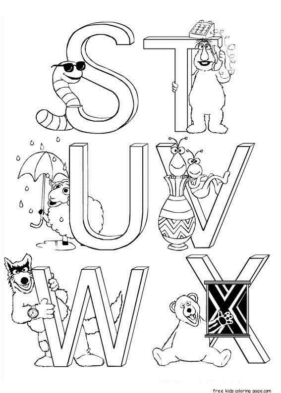sesame street letter d coloring pages | Free sesame street alphabet coloring pages for kidsFree ...