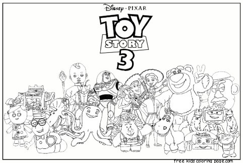 Printable Toy Story 3 Characters Coloring Pages For