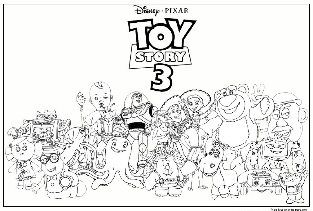 Printable toy story 3 characters