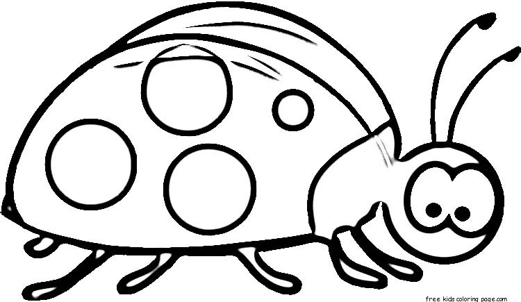 Printable ladybug coloring pages online for kidsFree Printable