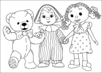 Printable cartoon Andy Pandy coloring pages