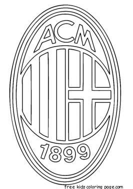 Printable soccer ac milan logo