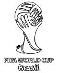 fifa world cup brasil soccer coloring pages