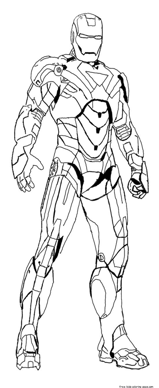 Iron man colouring pictures to print for kidsfree for Free coloring pages iron man