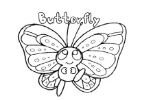 printable baby butterfly coloring pages