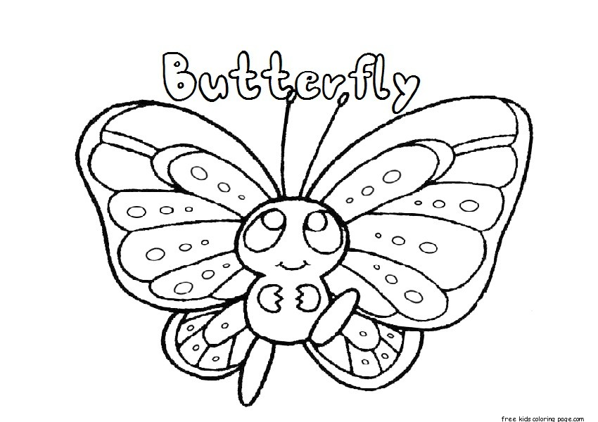 butterfly baby coloring pages - photo#27