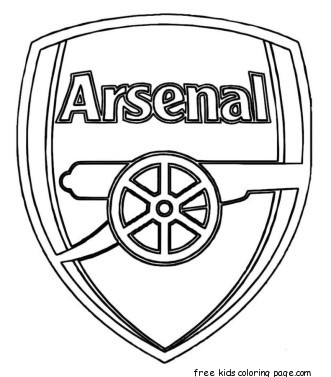 Printable soccer arsenal logo coloring pages for kidsFree ...