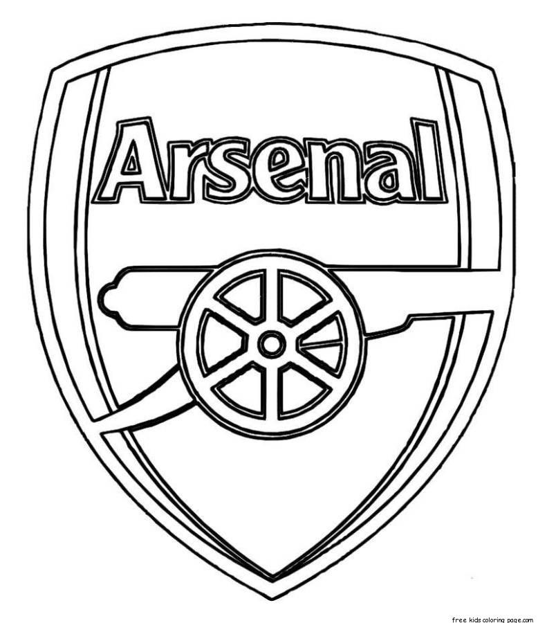 Printable soccer arsenal logo coloring