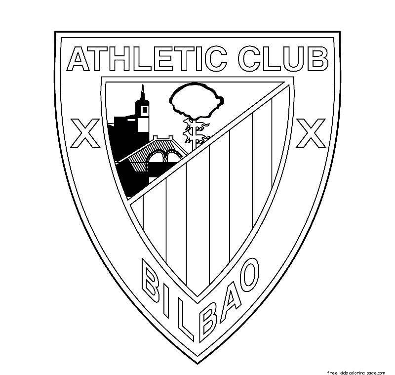 Print out soccer athletic bilbao logo coloring pages for