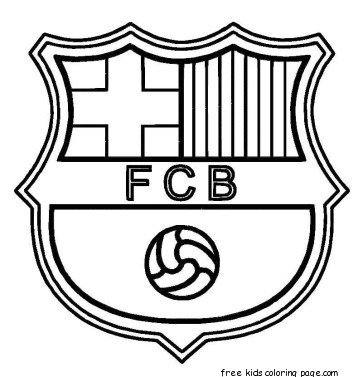 Printable Barcelona Soccer Coloring Pages For Kidsfree