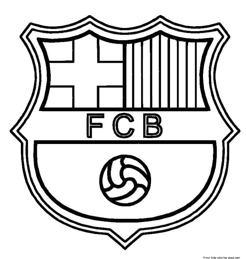 Printable barcelona soccer coloring pages for kidsFree Printable