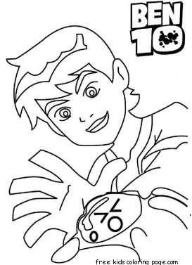 printable ben 10 ultimate alien coloring pages for