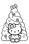 christmas holidays hello kitty coloring