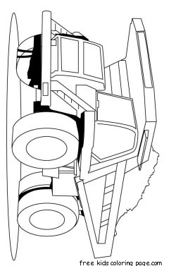 Print out peterbilt semi truck