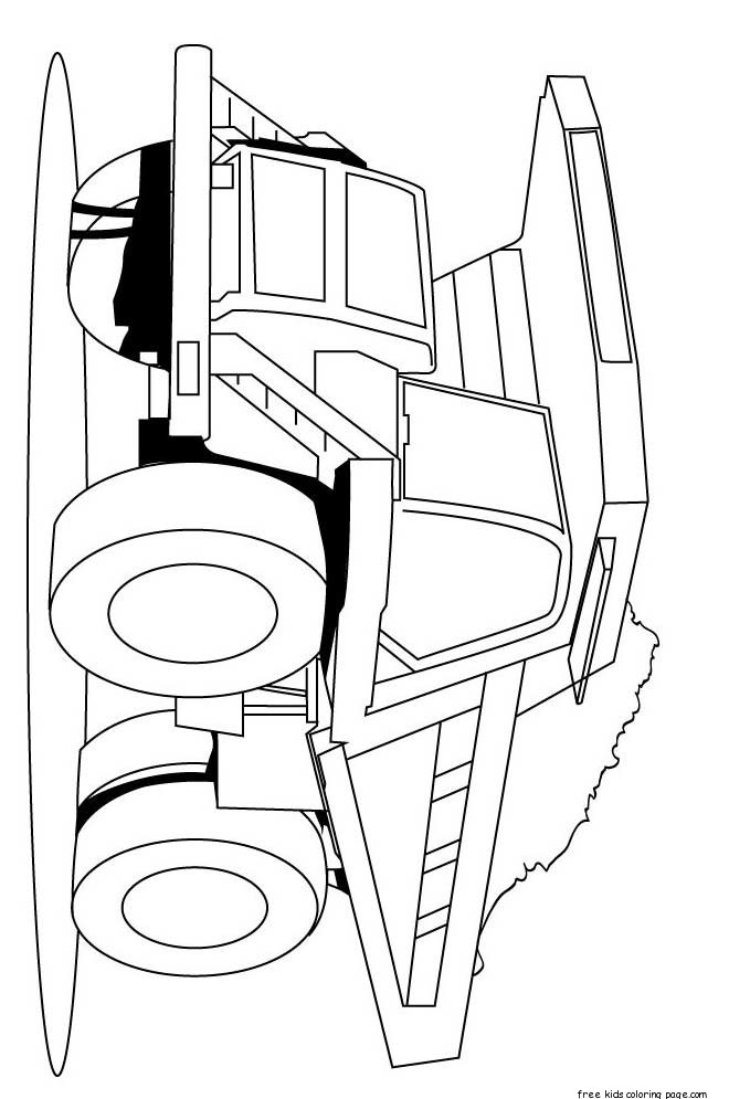 Print out peterbilt semi truck coloring pages for kidsfree for Free truck coloring pages