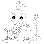 Printable Animal Alphabet Letter A for Ant