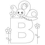 Printable Animal Alphabet Letter B Butterfly