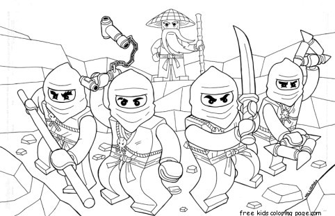 New Coloring Sheet : Ninjago for kids coloring