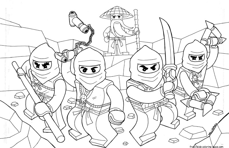 Printable Coloring Pages Of Ninjago For Kidsfree Printable Printable Ninjago Coloring Pages