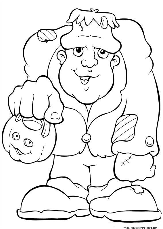 frankenstien coloring pages - photo#3