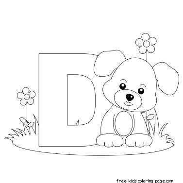 Printable Animal Alphabet Letter D for Dog for ...