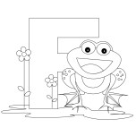 Printable Animal Alphabet Letter F For Frog