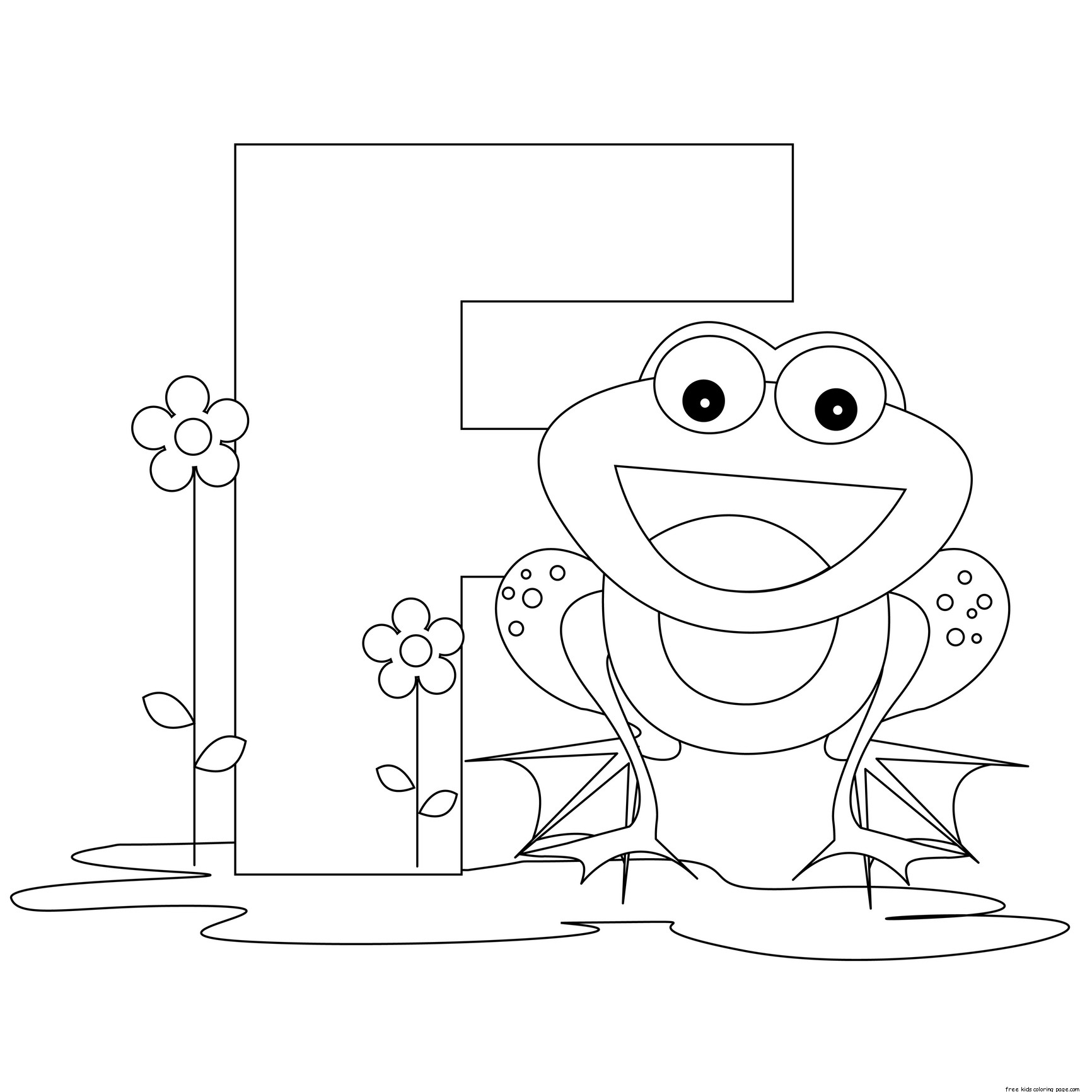 Pritnable alphabet letter f preschool activities for Abc coloring pages for kids printable