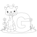 Printable Animal Alphabet Letter G is for Giraffe