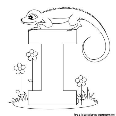 Printable alphabet worksheets letter i for Iguana for kidsFree ...
