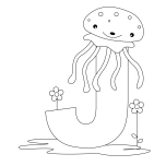 Printable Animal Alphabet Letter J for Jellyfish