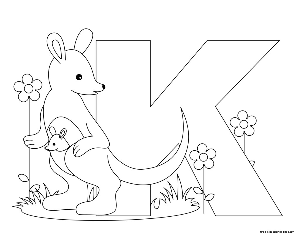 Printable Animal Alphabet Letter