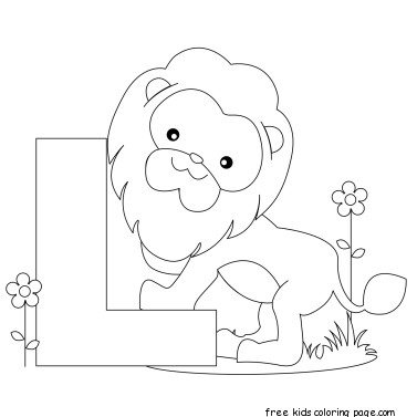 L Alphabet Letter alphabet letter templates preschool L for lioneFree Printable Coloring ...