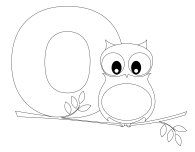 Printable Animal Alphabet Letter O is for Owl