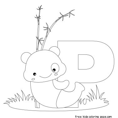 Animal Alphabet Letters To Print And Color Letter P For PandaFree