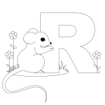 Printable Animal Alphabet Letter R is for Rat
