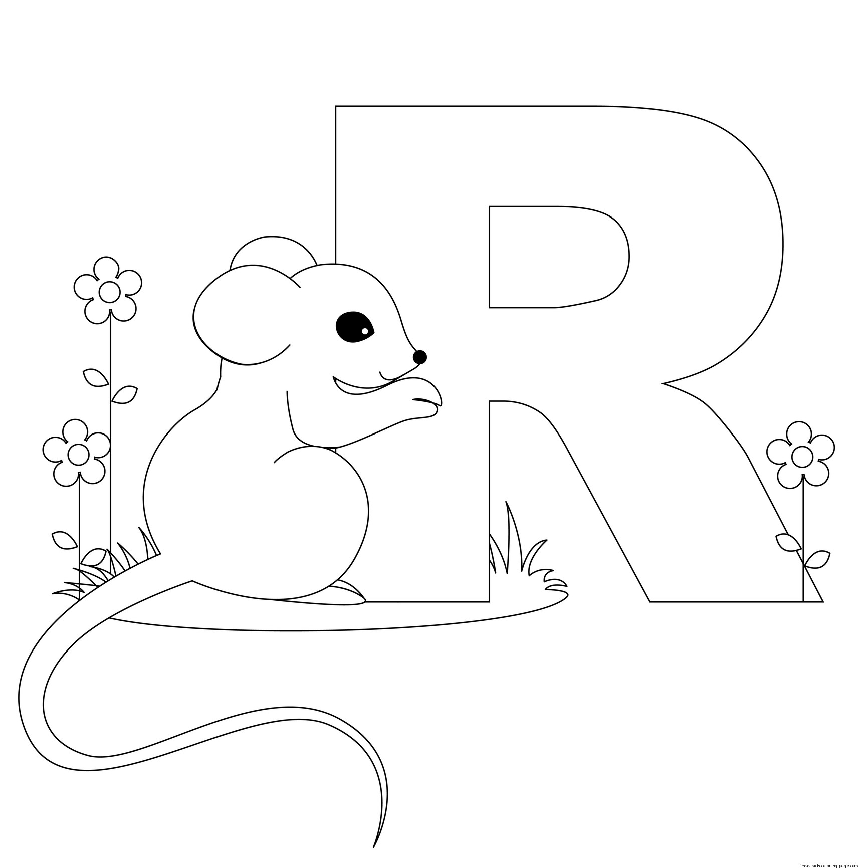 Printable animal alphabet letters coloring pages letter for Free alphabet coloring pages for toddlers